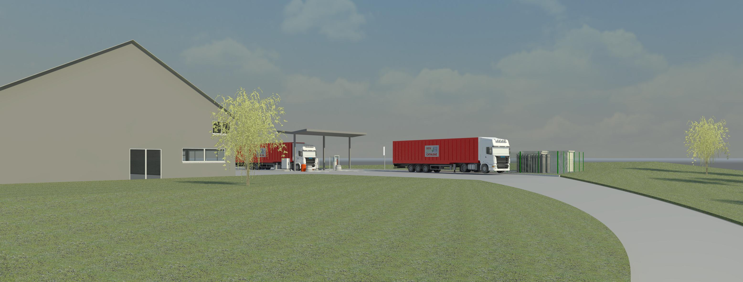 station de distribution de gnv gaz naturel pour v hicules pas cher st girons. Black Bedroom Furniture Sets. Home Design Ideas